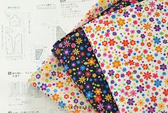 Flower fabric Flower pattern 44x35 DTP fabric by KoreaBacol