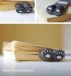Kitty toes bookmark!