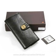 3edd869cf5 Mulberry Mens Long Natural Leather Wallet Black For Wholesale Mulberry  Outlet