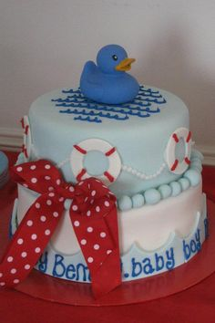 Nautical Baby Shower Cake by Swindelicious @Sherian Swindell