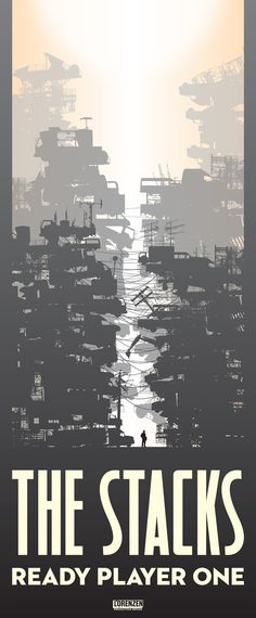 The Stacks from Ready Player One by Ernest Cline (Level One).  Illustration by Cory Lorenzen.