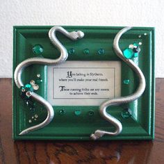 Slytherin plaque