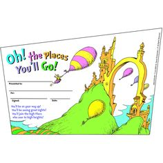 SEUSS-OH THE PLACES YOULL GO