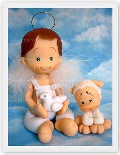https://flic.kr/p/a3AZrJ   Topo de bolo   para o batizado do bebê da Claudmeire =) Bjs Pati contato@biscuitdapati.com.br
