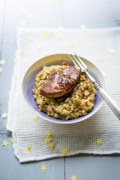 Risotto aux cèpes et foie gras poêlé aux épices et confit d'oignons rouges (recette de Noëmie de Top Chef 2014) http://foodizbox.com/nos-recettes.php?box=31&recette=62