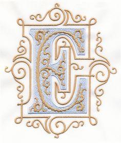 Vintage Royal Alphabet & Accent Designs (2013 Alphabets) E monogram
