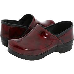 Red marbled Danskos make the feet happy!
