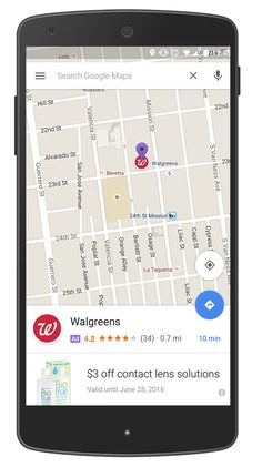 Google maps - Promoted Pins