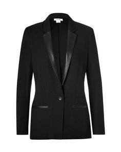 HELMUT LANG  |  Ark Suiting Blazer with Leather Lapel