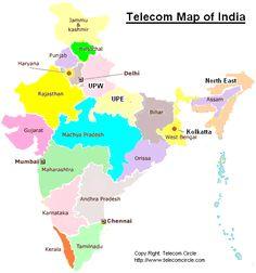 Telecom Circle Map of India