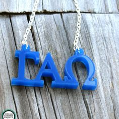 Greek Licensed Necklace by My Capital Letters - Gamma Alpha Omega www.mycapitalletters.com