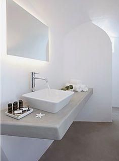 Anemolia Villa, Santorini, 2013 #bathroom #minimal