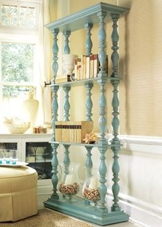 bookcase made out of spindles? Somerset Bay - pretty color and finish by eddie