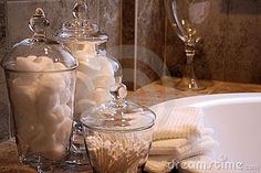 Bathroom fillers...loving the idea of soap bars as a filler.  Not to mention the convenience :)