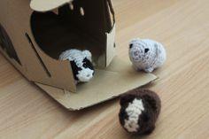 Cobayas amigurumi - Bloginia Crafty, Crochet, Amigurumi, Patterns, Knit Crochet, Crocheting, Chrochet, Hooks, Ganchillo
