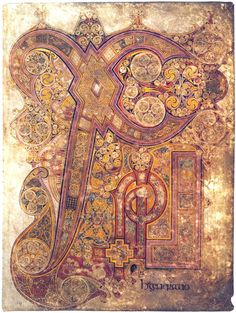 Insular art from the Book of Kells, 800 AD