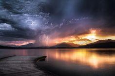 Lightning At Sunset...