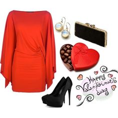 Nice V-Day outfit, but this is nice for going out somewhere for the grown & sexy kind of affair!