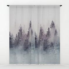Winter Wonderland - Stormy weather Window Curtains