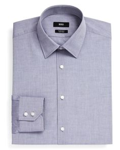 Boss Hugo Boss Enzo Solid Non Solid Dress Shirt - Classic Fit
