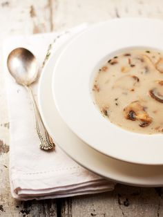 Classic Cream of Mushroom Soup. Sooo yummy. Added extra thyme and pepper. And a pinch of chili powder. Perfect for this cold weather.