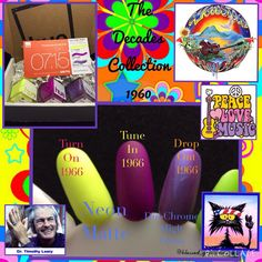 """from Friday. I received the next box in series """"The Decades Collection"""". This month's 1960 theme is Woodstock. And those colors are groovy perfect! Nail Polish Sets, Love Nails, Woodstock, Hue, Blessed, Friday, Colors, Collection, Instagram"""