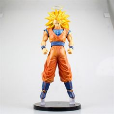 37.19$  Buy here - J.G Chen 2015New Anime Dragon Ball Z Heroes Super Saiyan 3 Son Goku PVC Figure Collectible Toy 31CM  #buyininternet