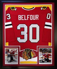 Ed Belfour Framed Jersey Signed Schwartz COA Autographed Chicago Blackhawks Mister Mancave http://www.amazon.com/dp/B011SXRKLE/ref=cm_sw_r_pi_dp_zourwb1CMX2VJ