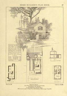 Four Room House for Wood Frame Construction-Home builder's plan book; a collection of architectural designs for small houses submitted in competition by architects and architectural draftsmen in connection with the 1921 Own your home expositions, New York and Chicago, 1921