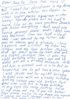 Heartbreaking letter found under youngster's pillow talks of his dreams of swimming with a dolphin Letter Find, Santa Letter, Life Is Hard, Little Boys, Let It Be, Dolphins, Articles, Swimming, Dreams
