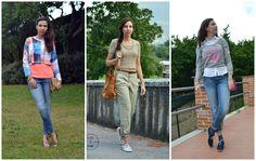 Vi propongo 3 look da copiare in modo che anche NOi ragazze normali (e freddolose) possiamo indossare i CROP TOP:  Quale vi piace di più?