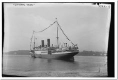 Bain News Service, publisher - GUISEPPE VERDI Print-this is the ship that my grandfather took to come from Italy to NY on Oct 28th 1926