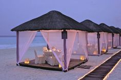 TOP 5 Luxury Restaurants in Cancun: Casitas by Ritz Carlton Cancun One of the best luxury and romantic dinner experiences in Cancun. Casitas by Ritz Carlton Cancun is an experience that I want to have! Oh The Places You'll Go, Places To Travel, Places To Visit, Cancun Mexico, Mexico Honeymoon, Romantic Places, Beautiful Places, Romantic Beach, Romantic Getaway