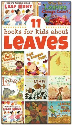 11 books for kids about leaves, including both non-fiction and fiction…