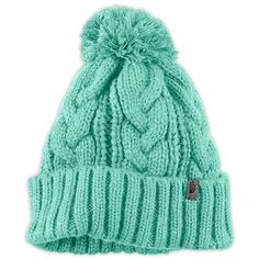 The North Face Women's Accessories Hats/Caps RIGSBY POM POM BEANIE found on Polyvore