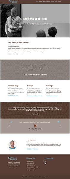 An Wens Webdesign - Grip on Life Web Design, Life, Design Web, Website Designs, Site Design