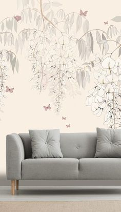 Create a beautiful feature wall with this Wisteria Lane wall mural by Kelly Kratzing. Give any room a beautiful feature wall with this pink, floral mural by Kelly Kratzing. Ideal for a relaxing living room, this stunning floral mural is sure to WOW! Click to see our large collection of wall murals. #wallmural #pinkbedroom #bedroominspiration #accentwall #wallpaper #floral #floralwallpaper #featurewall #livingroominspo Where to buy floral wallpaper. Wisteria, Home Staging, Designer Wallpaper, Wall Murals, Bedroom Ideas, Wallpapers, Contemporary, Living Room, Create