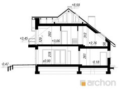 Dom w sansewieriach Floor Plans, Architecture, House, Snapchat Ideas, Projects, Arquitetura, Home, Architecture Design, Homes