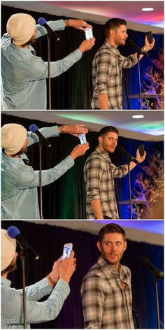 I feel like Jared probably has so many pictures of Jensen with that expression :)