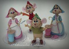Mice-Cinderella | Alessandro Caldeira | Gumpaste Figures