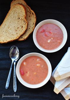 Gazpacho - tomato ice soup