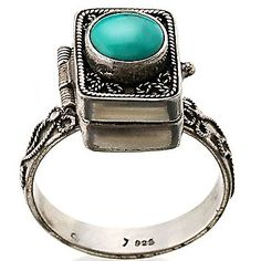 One of the coolest poison rings I've ever seen! I Love Jewelry, Jewelry Box, Jewelery, Poison Ring, Diamond Are A Girls Best Friend, Fashion Accessories, Silver Rings, Bling, Uh Huh