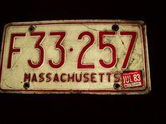 Massachusetts License Plate Vintage Car
