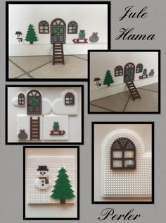 Mouse House perler beads #mousecrafts Mouse House perler beads