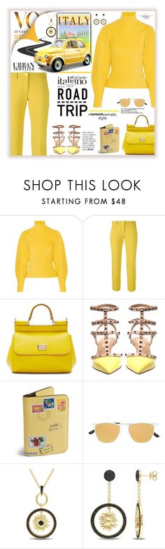 """""""Urban Traveler   Italia"""" by fassionista ❤ liked on Polyvore featuring Thierry Mugler, Versace, Dolce&Gabbana, Valentino, Vera Bradley, Italia Independent and Versace 19•69"""