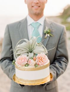 Twine Events Bohemian Beach Wedding Inspiration, Cake by The ScootaBaker & Floral by Twig & Twine