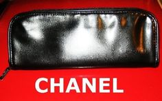 CHANEL LEATHER UNISEX TRAVEL / COSMETIC / TOILETRY / MAKEUP BEAUTY POUCH BAG by CHANEL. $21.99