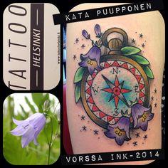https://www.facebook.com/VorssaInk, http://tattoosbykata.blogspot.fi, #tattoo #tatuointi #katapuupponen #vorssaink #forssa #finland #traditionaltattoo #suomi #oldschool #pinup #compass