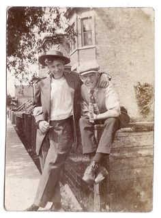 Two Irish lads in a  time gone by...  <> (celts, celtic, Ireland, vintage photo)