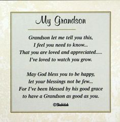 Ideas Birthday Quotes For Grandma Grandchildren Grandson Birthday Quotes, Grandson Quotes, Quotes About Grandchildren, Birthday Verses, Birthday Quotes For Him, Birthday Ideas, Quotes About Grandma, Grandkids Quotes, Birthday Sayings